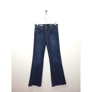 Gap Authentic Flare High Rise Jeans Button Fly 28